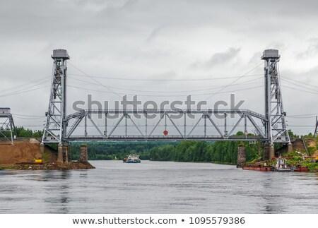 Rosja typu rzeki niebo budowy przemysłu Zdjęcia stock © borisb17