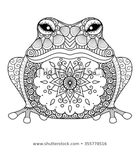 Hand drawn zentangle mandala for coloring page. Stock photo © Natalia_1947