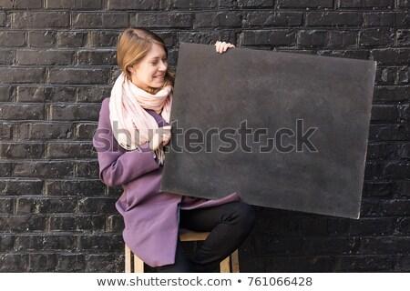 модель красивой лице кирпичная стена стены Сток-фото © ElenaBatkova