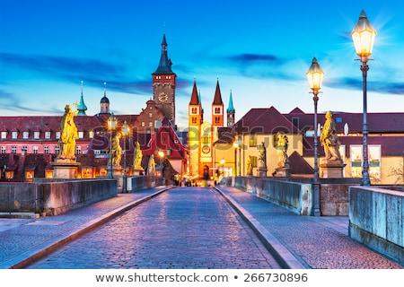 Sunset over city of Wurzburg in Bavaria, Germany Stock photo © kyolshin