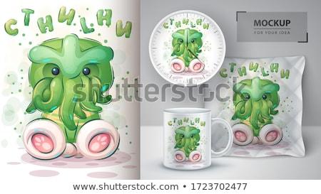 Karikatür poster vektör eps 10 kahve Stok fotoğraf © rwgusev