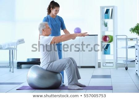 Rehabilitación terapia ejercicio cuello lesión hombre Foto stock © AndreyPopov