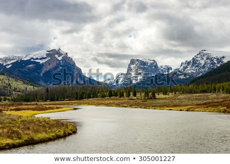 wind river peak panorama stock photo © pancaketom