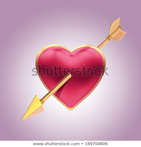 red heart pierced with an arrow Stock photo © pressmaster