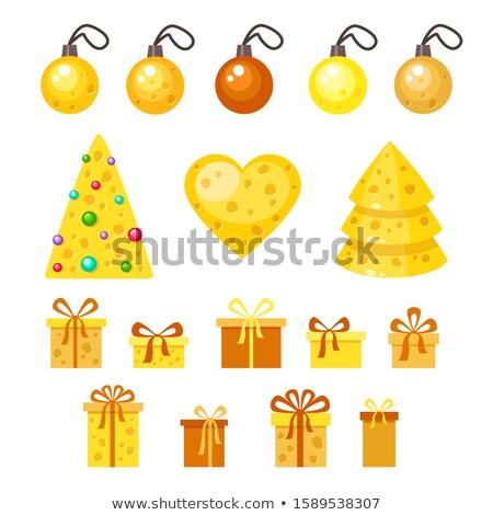 vektor · karácsony · új · év · illusztráció · karácsonyfa · kivágás - stock fotó © hermione