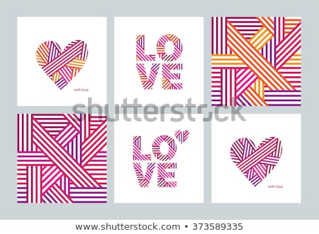 fehér · szeretet · szívek · piros · végtelen · minta · rajz - stock fotó © hermione