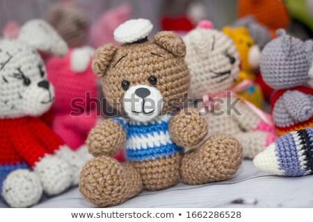 Küçük oyuncaklar el yalıtılmış beyaz doku Stok fotoğraf © Borissos