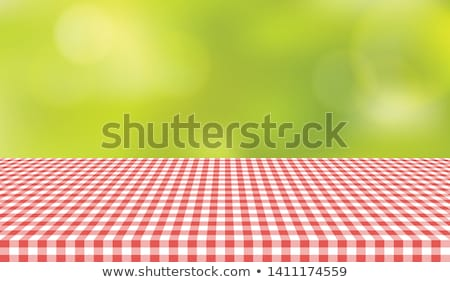 Red textile Gingham Stock photo © leeser