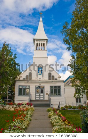 Steeple of the Immaculate Conception Church in Fairbanks. Stock photo © Klodien