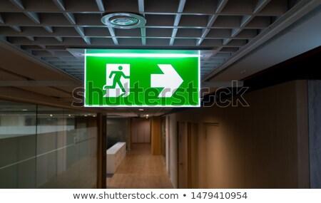 Escapar signo imagen Alemania fuego fondo Foto stock © magann