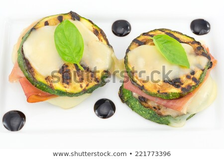 appetizer, grilled zucchini stuffed with cheese stock photo © M-studio