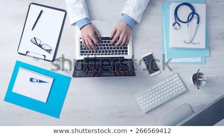 ноутбука изолированный белый Сток-фото © HectorSnchz