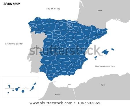 Map of Spain Stock photo © rbiedermann
