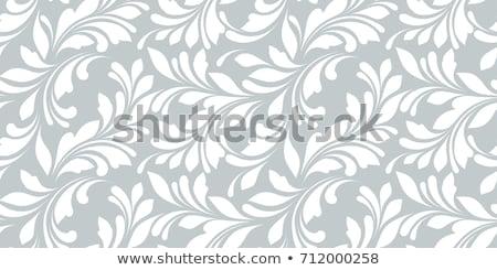 Vektor fagyos végtelenített virágmintás minta ablak Stock fotó © IMaster