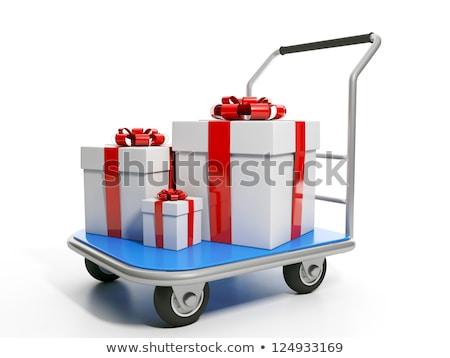 Enviar presentes grupo mão aniversário caminhão Foto stock © kolobsek