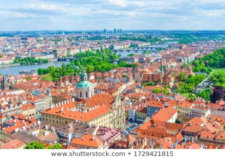 Praag daken straat stad heuvel Stockfoto © vwalakte