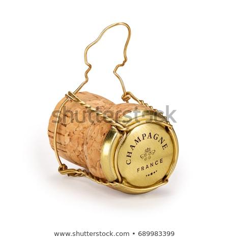 Champagne Cork vin heureux liquide plug Photo stock © shutswis