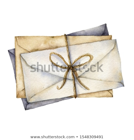 Letter A watercolor on vintage paper Stock photo © tungphoto