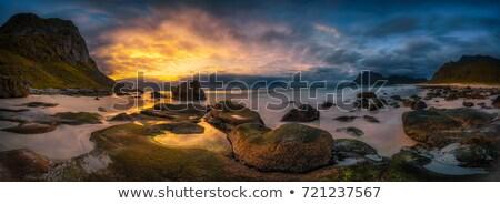 nublado · Noruega · escandinavia · agua · nubes · montana - foto stock © harlekino