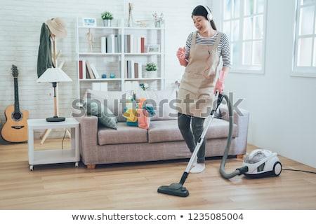 vuoto · pulizia · donna · casa · lavoro - foto d'archivio © elnur