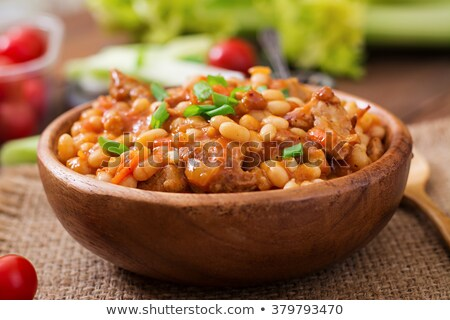 white bean and meats Stock photo © M-studio