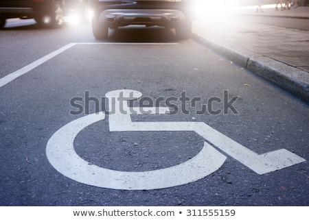 Mozgássérült személy parkolás hely engedély osztályzat Stock fotó © stevanovicigor