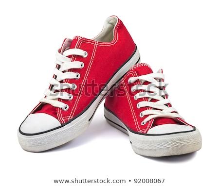 красный обувь белый ребенка ребенка цвета Сток-фото © EwaStudio