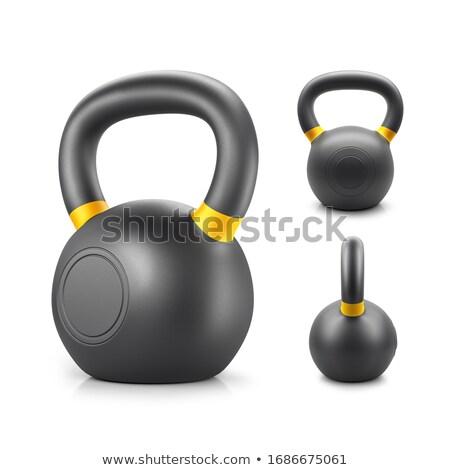 Dumbbells and Kettlebells weight training gym Stock photo © lunamarina