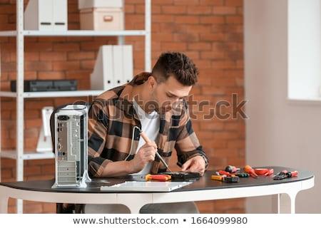 Manutenção eletrônico reparar dispositivos informática metal Foto stock © OleksandrO