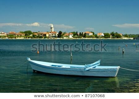 ősi hajó Horvátország öreg fából készült város Stock fotó © smuki