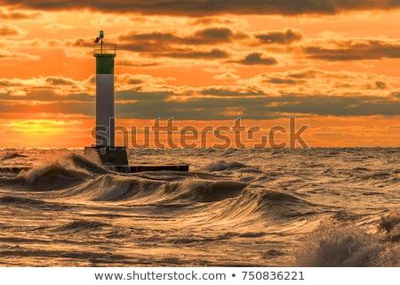 Bending lighthouse Stock photo © smithore