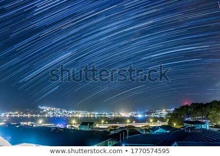 Gece ışıklar bakıyor şehir Yeni Zelanda Stok fotoğraf © rghenry