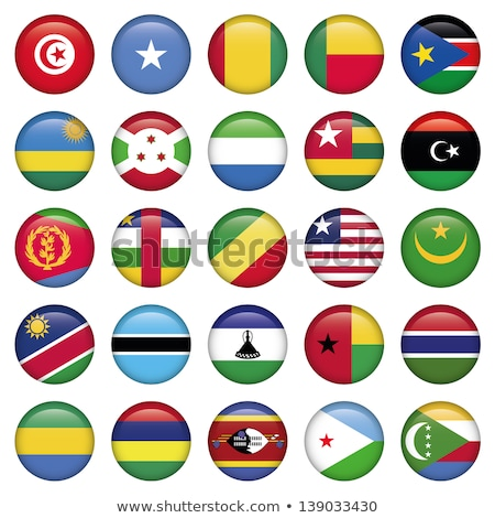 Stock photo: Gambia round flag. Vector illustration.