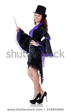 female magician isolated on white stock photo © elnur