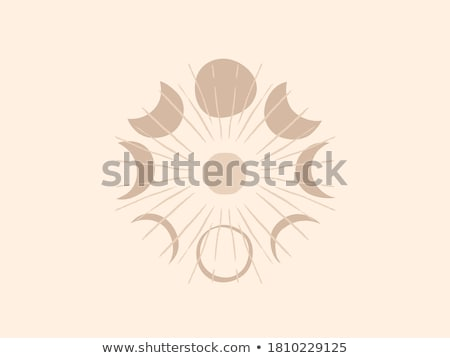 New moon abstract simple icon on white background. Stock photo © tkacchuk