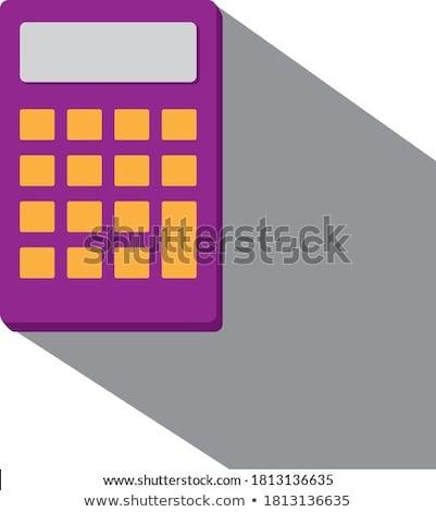 office work square vector violet icon design set stock photo © rizwanali3d