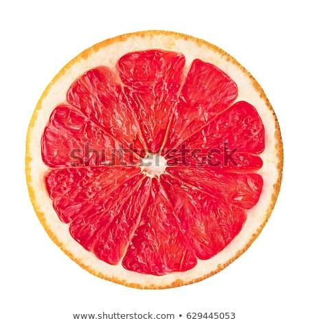 fresh slice of grapefruit isolated on white stock photo © tetkoren