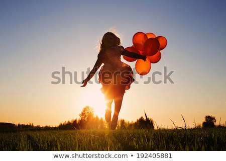 Lopen meisjes park outdoor portret Stockfoto © nenetus