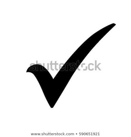 Tick Mark Pink Vector Button Icon Stock photo © rizwanali3d
