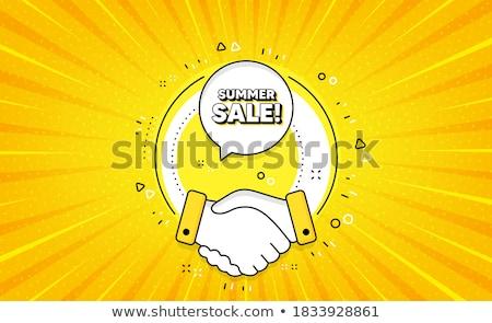 Seasonal Deal Yellow Vector Icon Button Stock photo © rizwanali3d