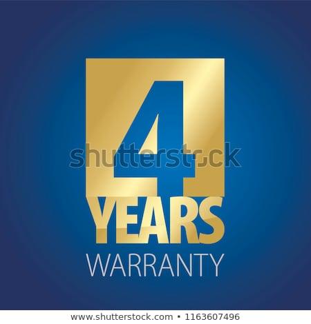 Jahre Garantie blau Vektor Symbol Taste Stock foto © rizwanali3d