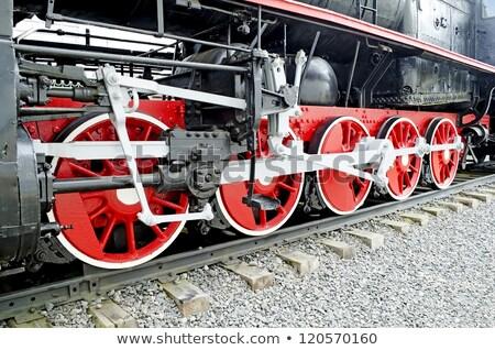 Stoomlocomotief vintage abstract trein zwarte Stockfoto © EcoPic