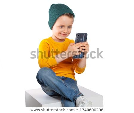 Belo pequeno menino feliz olhos criança Foto stock © Andersonrise