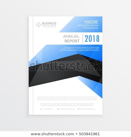 Klassz üzlet brosúra sablon kék fekete Stock fotó © SArts