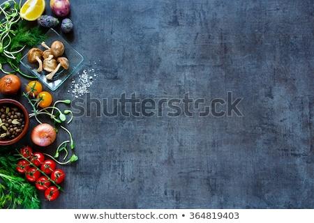 Legumes frescos rústico cópia espaço vegetal Foto stock © Yatsenko