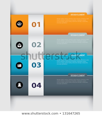 two educational banners with space for text stock photo © rastudio
