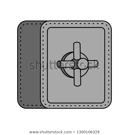 Safe isolated. strongbox cartoon style. large iron armored box f Stock photo © popaukropa