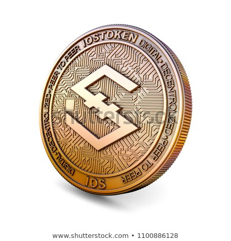 Iostoken - Cryptocurrency Coin. 3D rendering Stock photo © tashatuvango