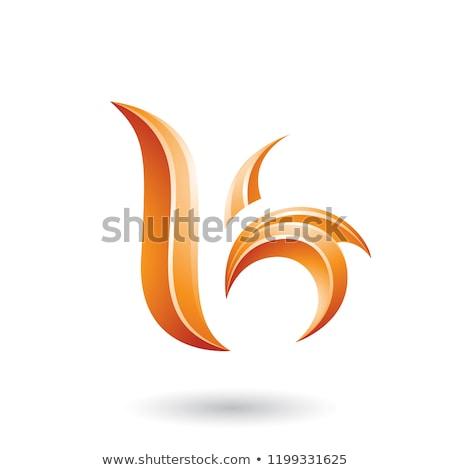 abstract · iconen · brief · oranje · teken · bedrijf - stockfoto © cidepix