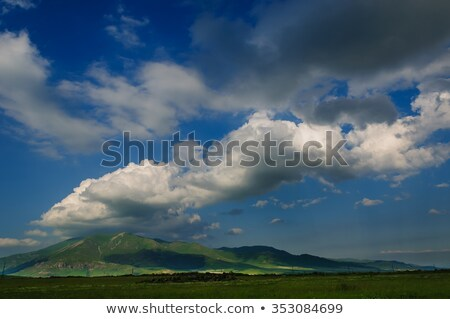 dramatic clouds skyscape with organic cumulus Stock photo © lunamarina